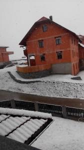 Schnee im Buch am Ostermontag